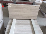 Étage de marbre de veine/revêtement en bois blancs de mur
