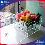 Mientras romántica de lujo Claro Negro plástico acrílico caja de la flor de Rose