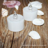 Weißes Plastic Base und Battery Flame White Candle