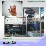 Máquina de hacer hielo del tubo de Icesta 5t con el compresor de Bitzer