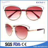 Form Sunglass Entwerfer polarisierte Metallkatzenauge-Sonnenbrillen