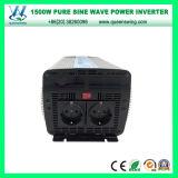 invertitore puro di potere di onda di seno di 1500W 12/24V con visualizzazione (QW-P1500)