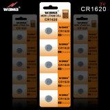 Batteria delle cellule del tasto del litio Cr1620 con l'imballaggio della bolla