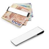Clip sottile dei soldi del raccoglitore del supporto della carta di credito del cuoio genuino del Mens di modo del caffè