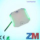 2014solar LED Energy aluminium solaires route Stud lumière Makings / route avec deux côtés à LED clignotant et deux réflecteurs