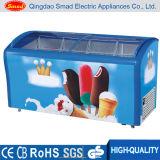 Congelador de exibição de sorvete de vidro deslizante de vidro curvado (SC / SD268Y)
