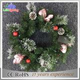 Свет украшения рождества праздника мотива гирлянды изготовления зеленый