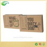 Het kleurrijke Verpakkende Vakje van de Zeep en van de Kaars met het Document van Kraftpapier of Witte Kaart (CKT - cb-268)