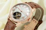 Do couro genuíno do crocodilo da parte alta senhora real relógio Tw-101 de Tourbillon