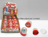 Juguete de cristal de la bola de la nieve de la promoción de la Navidad con el caramelo