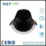 Ce elegante RoHS Downlight de la dimensión de una variable del recorte de la luz de techo del LED LED Downlight 179m m