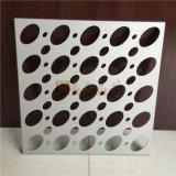 Weiße Aluminiumfarben-elliptische Loch-perforiertes Aluminiumpanel für Fassade