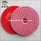 Wd-2 molharam a almofada de polonês flexível do diamante vermelho brilhante padrão das almofadas de polonês