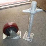 Rueda durable segura del echador para el andamio