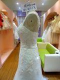 Vestido de casamento Ivory Uw4018 das senhoras da luva da cinta
