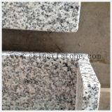 Tapa de la vanidad del granito del blanco gris para el cuarto de baño