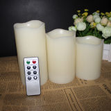 3 gesetztes Paraffin Wax Color Chang LED Candle für Home Decoration