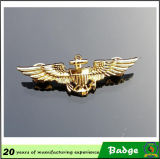 Qualité Gold Plated Eagle Military Badges avec le Pin