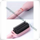 Escova elétrica do Straightener do cabelo do indicador do LCD do ferro da forma