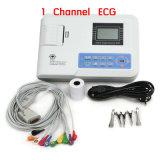Carejoy el 100% garantizó 12 la máquina de reclinación EKG-901-2 del electrocardiógrafo ECG del solo canal de los terminales de componente con el Registrador-Maggie termal