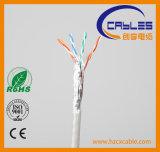 Cable de LAN al aire libre del establecimiento de una red del surtidor UTP Cat5e/CAT6 de China con la platija probada