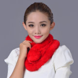 Señora Fashion Rex Rabbit Fur Scarf (YKY4361)