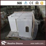 Tuile composée de marbre foncée d'Emperador avec le support de porcelaine pour le plancher