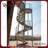Escalera espiral al aire libre del acero inoxidable (DMS-H1002)