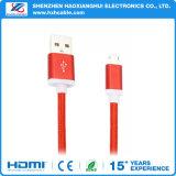 Precio de fábrica para el cable de carga rápido estupendo colorido del USB de la trenza para Andriod