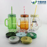 16oz Glass Mug Glass Jar com Handle