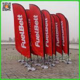 Bandeira de praia vermelha ao ar livre do indicador do Natal com carrinho (TJ-50)