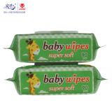 OEM 80PCS намочил Wipes Nonwoven безалкогольного мягкого младенца Spunlace тканей влажные