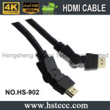 Hohe Definition 360 Grad HDMI Kabel drehend