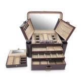 革大きい2側面の綴込の宝石箱