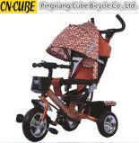 Brinquedo 4 das crianças em 1 triciclo dos miúdos, carrinho de criança de bebê