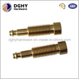 CNC de bronze feito-à-medida do metal da elevada precisão peças centrais do torno da maquinaria