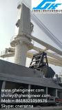 Гидровлический кран насыпного груза палубы баржи