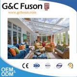 Sunroom incurvé par modèle préfabriqué mobile de Chambre de jardin de DIY à vendre