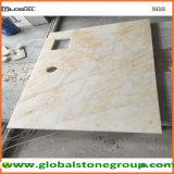 Partes superiores de tabela de mármore naturais para o contratante de pedra da mobília