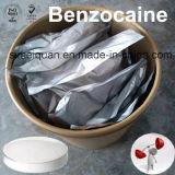99.9% Benzocaine anestésico local CAS 94-09-7 de la droga de la pureza en existencias
