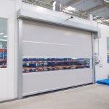 Porte à grande vitesse en plastique d'obturateur de rouleau de PVC de type de porte résistante ouverte automatique de vent (HF-J301)