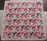デザインハンカチーフ100の綿の女性花型のハンカチーフ