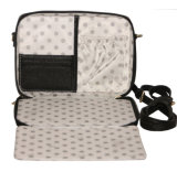 Schwarzer Crossbody Tablette-Halter-Schulter-Beutel für Damen