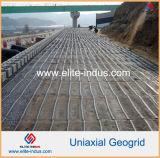 PP Uniaxial Geogrid para Reforzamiento lateral de rellenos sanitarios