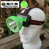 (FL-X814B) Headlamp минирование светильника горнорабочей угля батареи лития Headlamp 2PCS 2W 3W 5W СИД перезаряжаемые ся свет напольного плавая, удя свет