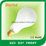 A23- bulbo incandescente del claro de la helada de E27