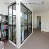 Окно алюминиевой рамки сползая стеклянное для здания (FT-W132)