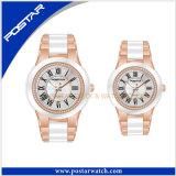 方法ステンレス鋼はブランドの腕時計の標準的なカップルの腕時計をつなぐ
