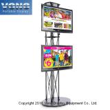 ' hoher Standplatz Fernsehapparat-10 für Messeen-Bildschirmanzeige, Binder-Wie