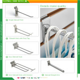 Vente au détail Supermarché Metal Wire Chrome Slatwall Hook